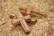Olive Wood Small Carved Cross