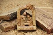 Bethlehem Nativity Grotto Christmas Carved Olive Wood Compasition