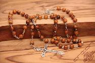 Olive Wood Rosary with  Round Small Beads
