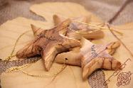 Olive Wood Carved Christmas Star