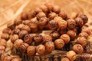 Olive Wood Carved Round Beads 11.5 mm