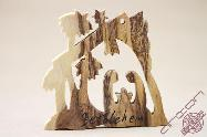 Olive Wood Craft Christmas Tree Toy