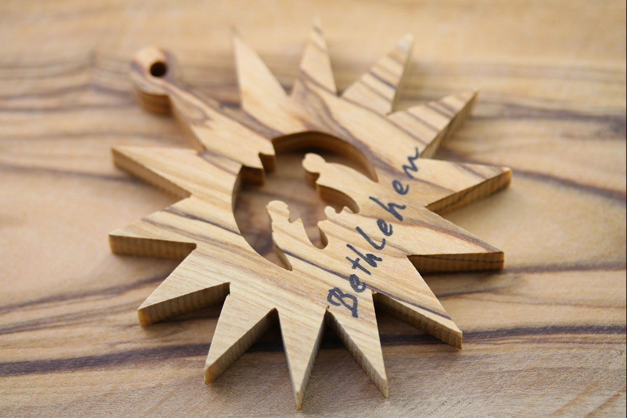 Wooden craft christmas trees - Wood Christmas Tree Craft 0olive Wood Craft Bethlehem Christmas Toy Holy Family Star 1 Jpg