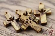 Olive Wood Small Jewelry Cross