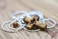 Olive Wood Jewelry Cross & Sterling Silver Chain 925