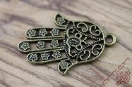 Bronze Jewelry Accessory Jerusalem Hamsa