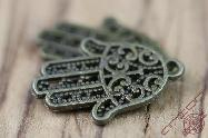 Small Bronze Hamsa Jewelry Accessory