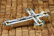 Olive Wood Greek & Russian Orthodox Mother of Pearl Crucifix
