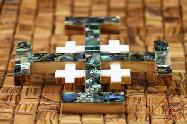 Olive Wood Jerusalem Wall Cross Mother of Pearl Medium Size