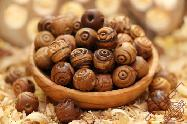 Olive Wood Carved African Beads 12mm