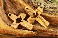 Olive Wood Holy Land Cross of Peace