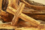 Holy Land Olive Wood Carved Wall Cross 12cm