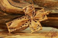 Olive Wood Art Carved Ornament Decorative Cross