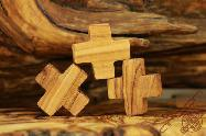 Olive Wood Cross Rosary Bracelet Holy Land Hand Made