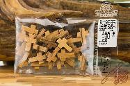 Olive Wood Very Small Crosses 1.78 cm Hand Made Rosary Jewelry Necklace Crosses