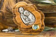 Bethlehem Holy Family Olive Wood Composition Hand Made